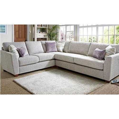 White L Shape Fabric Sofa, Rs 5000 /seat, City Interior | ID ...