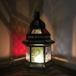 Dar Fes Small Coloured Lamp