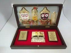 Jagannath Gold Plated Photo Frame Box