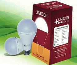 White Round Unicor Inverter Bulb, Base Type: B22