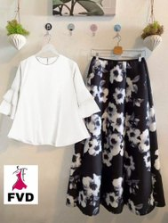 Designer Top and Skirt