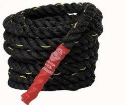 Black Gym Polypropylene Rope