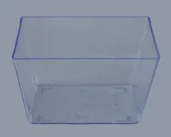 Plastic Transparent, Brown Mousse Cup 2.3 / 60 mm