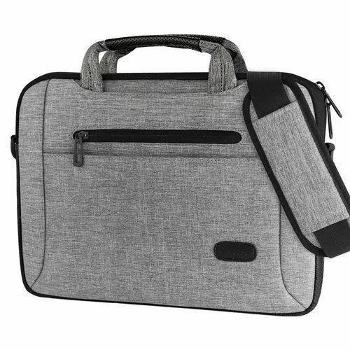 Canvas Plain Laptop Side Bag 39b587536702e