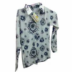 Ladies Printed Shirt, Size: M