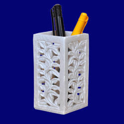 Soapstone Carving Pen Holder