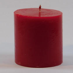 Red Plain Pillar Candles