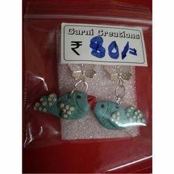 Garni Creation Clay Fashionable Earring Set