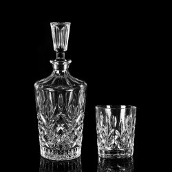 Lemon Tree Transparent Glass Decanter Set
