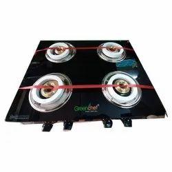 Stainless Steel Orbit Four Burner Gas Stove