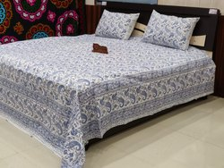 Handmade Printed Bed Cover Throw Block Print Bed Sheet