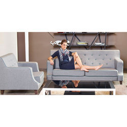 Grey Renzo Premium Fabric 4 Seater Sofa Set