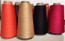 Ne 100/2 Combed Gassed Mercerized Dyed Yarn  On Cones For Making Saree