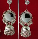 Alloy Nk Handmade Fashionable Oxidized Earring Silver White For Party, Wedding