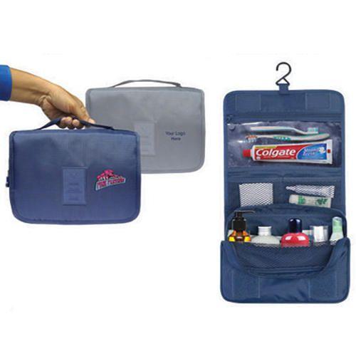 Blue Travel Organizer Hanging Bag Cum Pouch