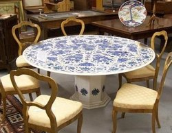 Marble Inlay Dining Table