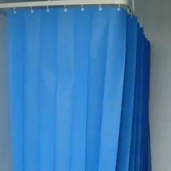 Blue Hospital Curtain Track