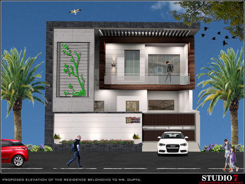 front elevation of residence in ludhiana urban estate dugri by