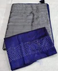 Hot Fixing Diamond Saree for Party Wear