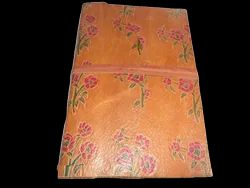 Printed Brown Handmade Leather Notebook