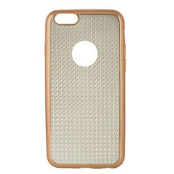Gold Silicone Apple Mobile Back Cover, Apple IPhone 6