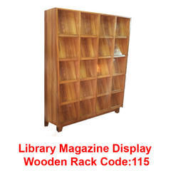 Library Wood Magazine Display Rack