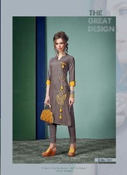 Grey Knee Length Kurti
