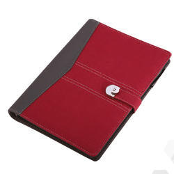 Grey Red Notebook Diary