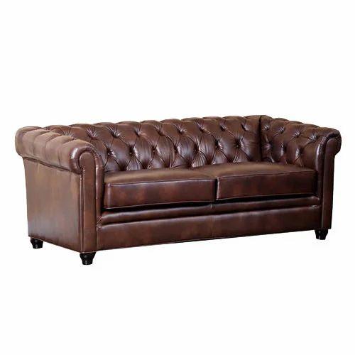 Royal Tufted Leather Sofa
