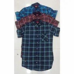 Trap Cotton Stylish Check Shirt, Size: S, M, L, Xl, Handwash