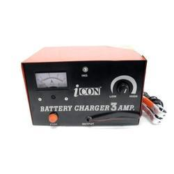 Icon Electric 12V/3A Manual Battery Charger, For Charging Purpose, Input Voltage: 220v
