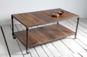 Locker Room Industrial Coffee Table With Reclaimed Wood