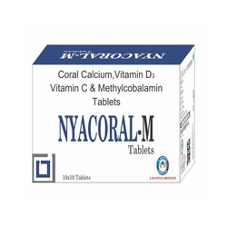 Coral Calcium Vitamin D3 Vitamin C And Methylcobalamin Tablets