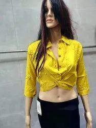 Zadine  Designer 140gms Heavy Rayon Crop Top For Women