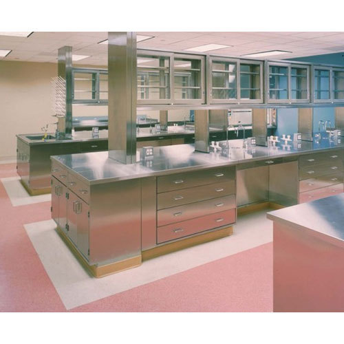 Labpros India Matt Finished Stainless Steel Lab Table