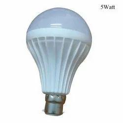 5 Watt PP Plastic LED Bulb, Base Type: B22
