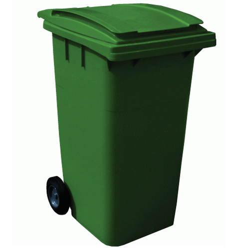 Green Hdpe Wheeled Dustbin 240 ltrs, Size: 740*570*1015mm