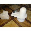 White Marble Shivling with Nandi