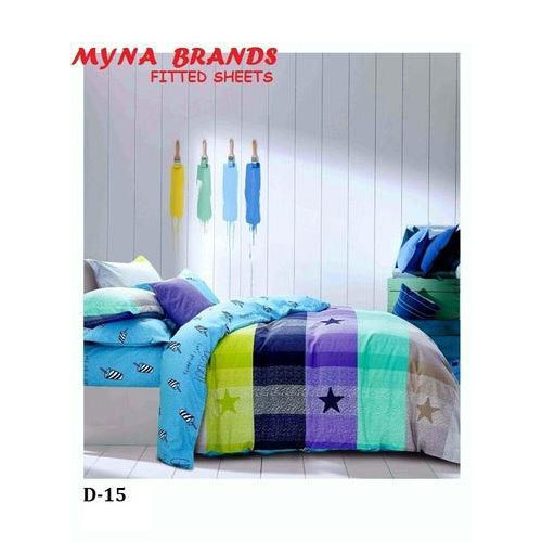 Printed Cotton Fitted Bed Sheet