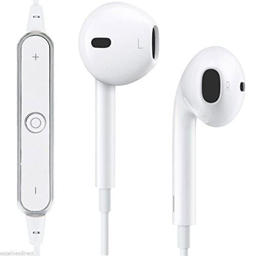 c05680433bb White Apple iPhone 8 Plus Compatible Wireless S6 Bluetooth Earphone  Headphone