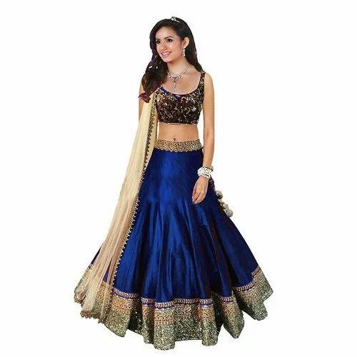 f382b3801f Party Wear Banglori Silk Ladies Lehenga Choli, Rs 3999 /piece   ID ...