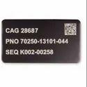 Aluminium Etched Label