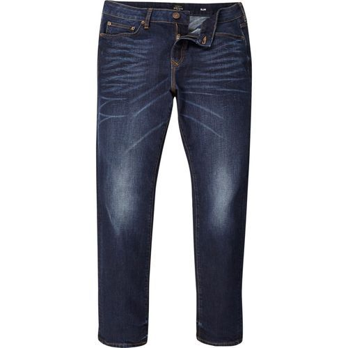Blue Button Casual Jeans, Waist Size: 32 And 34