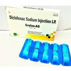 Grelax-AQ Diclofenac Sodium Injection IP, Packaging Size: 5x1 ml Ampoule, Prescription