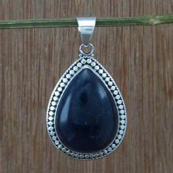 Blue Sun Sitara Gemstone 925 Silver Jewelry Pendant