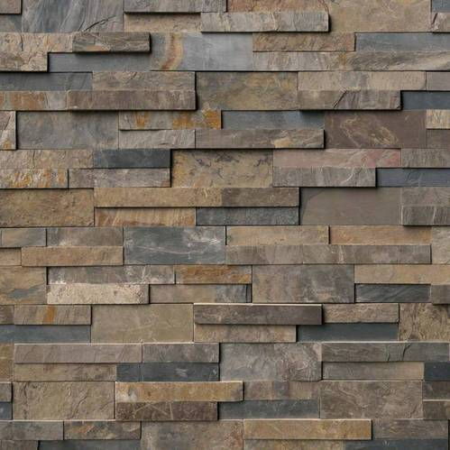 Cement Brown Cladding Wall Tiles Thickness Upto 25 Mm