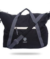 Black and Grey Duffel Gym Bag