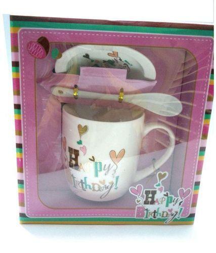 Ceramic Mugs Birthday Gift Set