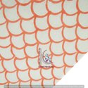 Dungal Half Circle Pink Hand Block Bagru Print Fabric