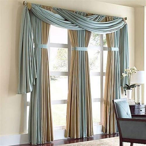 Plain Golden And Green Living Room Window Curtains, Rs 300 /piece ...